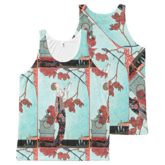 THE FLIGHTY BIRD ,ART DECO BEAUTY FASHION All-Over-Print TANK TOP