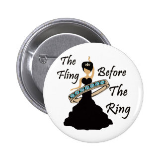 The Fling Before The Ring White Background 2 Inch Round Button