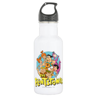 The Flintstones and Rubbles Family Graphic 532 Ml Water Bottle