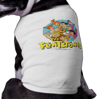 The Flintstones and Rubbles Family Graphic Doggie Tee Shirt