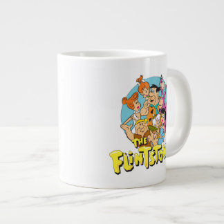 The Flintstones and Rubbles Family Graphic Large Coffee Mug