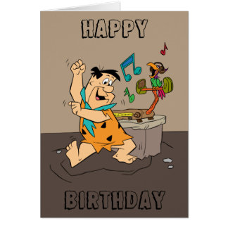 The Flintstones | Fred Flintstone Dancing Card