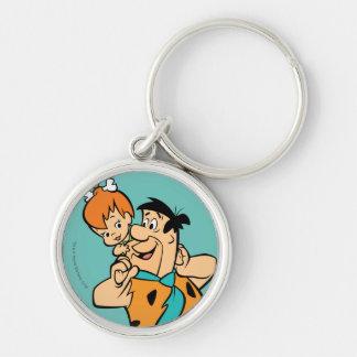 The Flintstones | Fred & Pebbles Flintstone Keychain