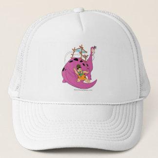 The Flintstones | Fred Sliding Down Tail Trucker Hat