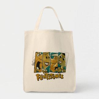 The Flintstones | Retro Comic Character Panels Tote Bag