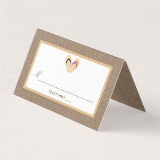 The Flip-Flop Sand Beach Burlap Wedding Collection Place Card