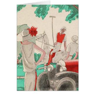 The Flirting Polo Player on Horseback Card