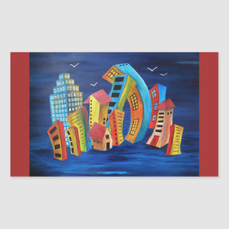 The Floating City Sticker