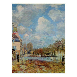 The Flood at Port Marly by Alfred Sisley Postcard