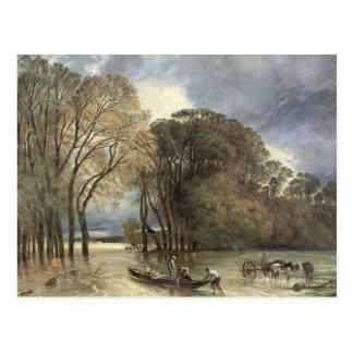 The Flood at Saint-Cloud, 1855 Postcard
