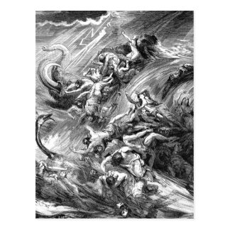 The Flood, genesis 7 Postcard