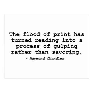 The Flood of Print (Raymond Chandler) Postcard
