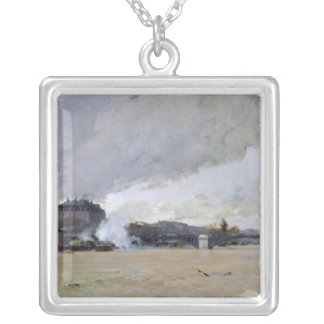 The Flooding of the Seine, c.1903 Silver Plated Necklace