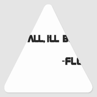 THE Floor Triangle Sticker