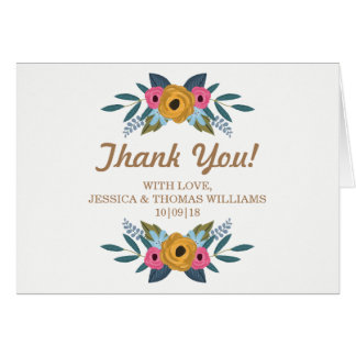 The Floral Wreath White Wedding Collection Card