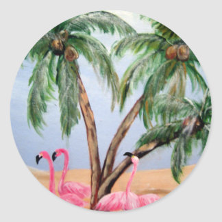 """The Florida Flamingos"" Sticker"