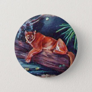 The Florida panther in the swamp 2 Inch Round Button