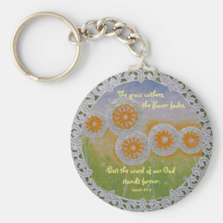 The Flower Fades Keychain