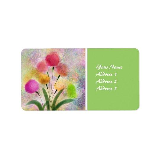 The Flower Garden Watercolor Return Address Label