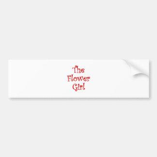 The Flower Girl Bumper Sticker