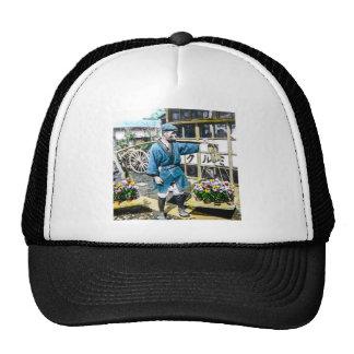 The Flower Merchant in Old Japan Vintage Trucker Hat
