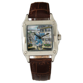The Flower Merchant in Old Japan Vintage Watches
