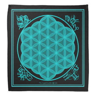 The Flower of Life 4 Elements- Aqua Bandannas