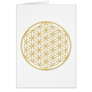The flower of the life - gold card
