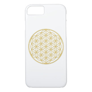 The flower of the life - gold - iPhone 7 covering iPhone 8/7 Case