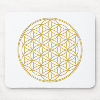 The flower of the life - gold - Yoga Mousepad