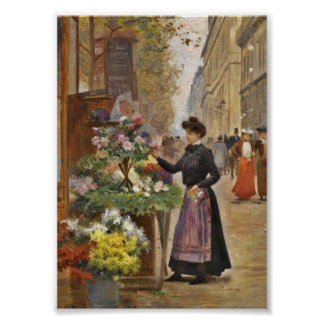 The Flower Seller Poster