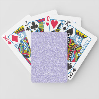 The flowing vines of Lilac Bicycle Playing Cards