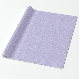 The flowing vines of Lilac Wrapping Paper