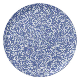 The flowing vines of  night blue plate