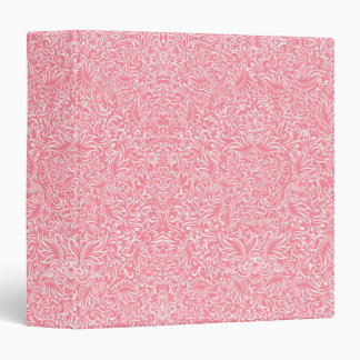 The flowing vines of pink vinyl binder
