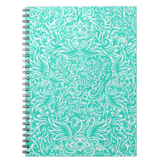 The flowing vines of sea green notebooks