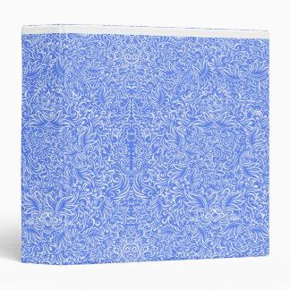 The flowing vines of sky blue 3 ring binder