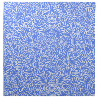 The flowing vines of sky blue napkin