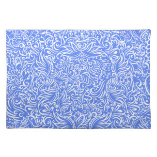 The flowing vines of sky blue placemat
