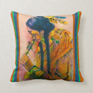 The Flute Player Pillow