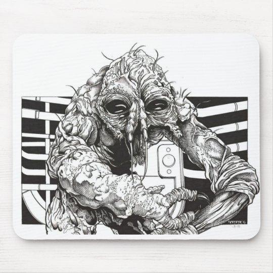 The Fly Brundlefly horror Mouse Pad