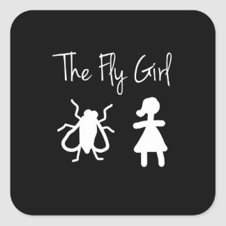 The Fly Girl Square Sticker