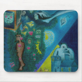 The Flying Lovers - Color Pencil - Mousepad