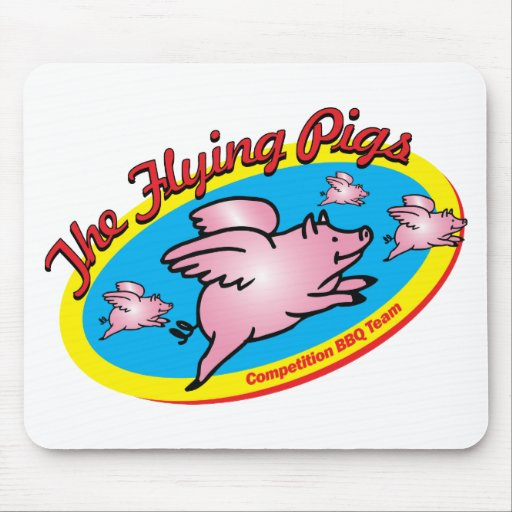 The Flying Pigs Competition BBQ Team Mouse Pad