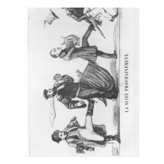 The Following Retinue, 20th December 1848 Postcard