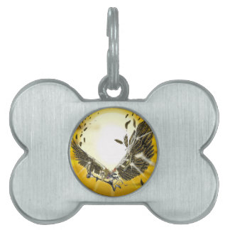 the folly and the fall of Icarus Pet Tags