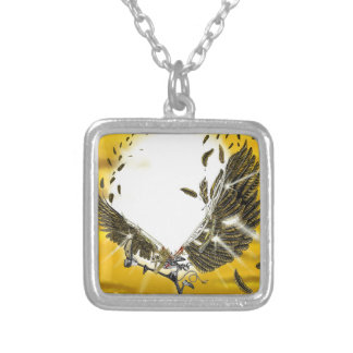 the folly and the fall of Icarus Silver Plated Necklace
