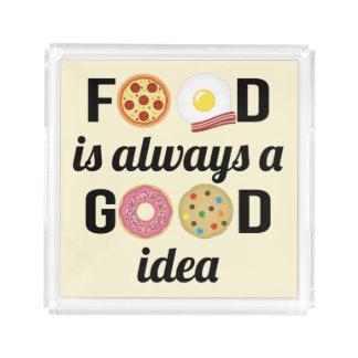 The Food Lover Acrylic Tray