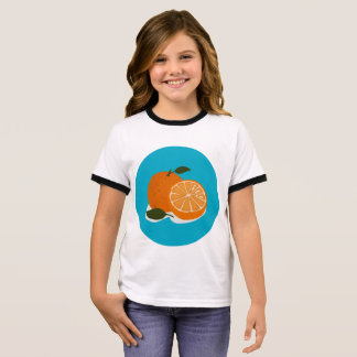 The Food - Orange Ringer T-Shirt