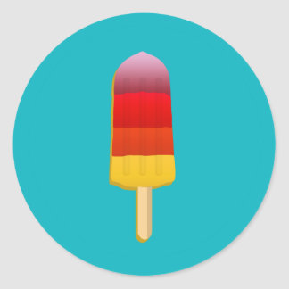 THE FOOD - POPSICLE CLASSIC ROUND STICKER